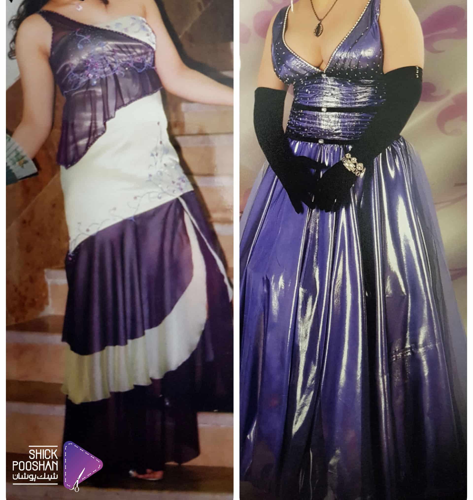 نمونه دوخت لباس شب